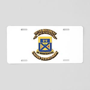 DUI - 197th Regiment with Text Aluminum License Pl