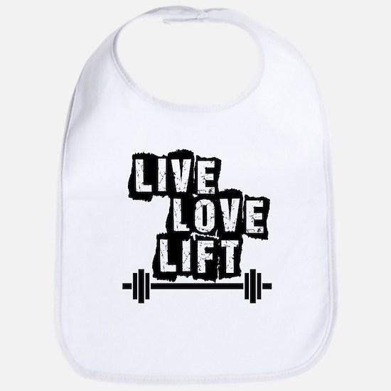 Live, Love, Lift Bib