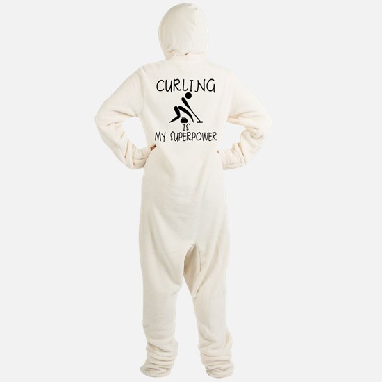CURLING is My Superpower Footed Pajamas