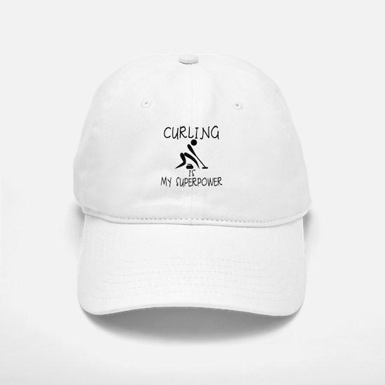 CURLING is My Superpower Baseball Baseball Cap