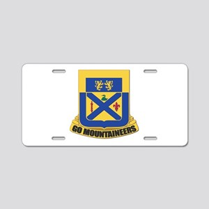 DUI - 197th Regiment Aluminum License Plate