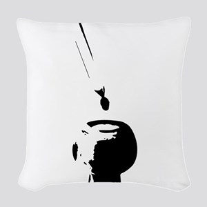 dabbing in action Woven Throw Pillow