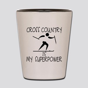 CROSS COUNTRY is My Superpower Shot Glass