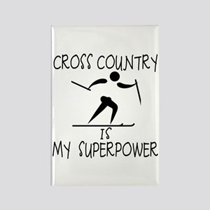 CROSS COUNTRY is My Superpower Rectangle Magnet
