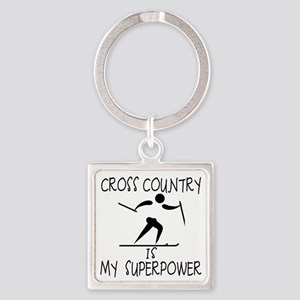CROSS COUNTRY is My Superpower Square Keychain