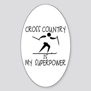 CROSS COUNTRY is My Superpower Sticker (Oval)