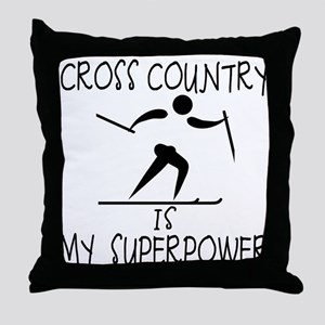 CROSS COUNTRY is My Superpower Throw Pillow