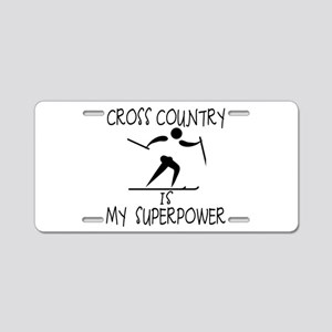 CROSS COUNTRY is My Superpower Aluminum License Pl