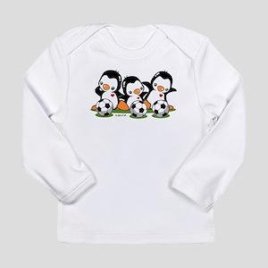 Soccer Penguins Long Sleeve Infant T-Shirt