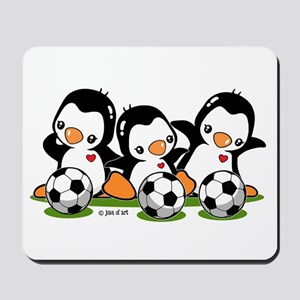 Soccer Penguins Mousepad