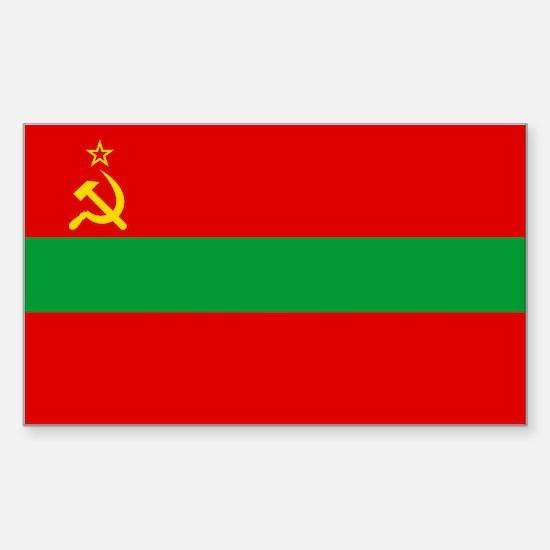Transnistria Flag Sticker (Rectangle)