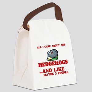 All I care about are Hedgehogs Canvas Lunch Bag