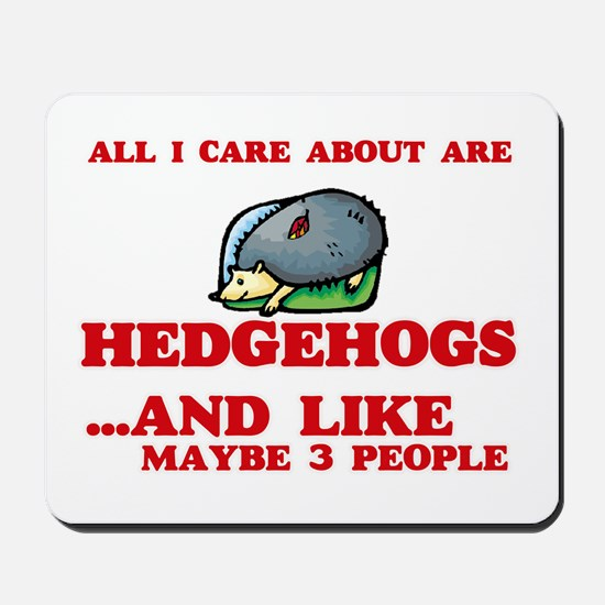All I care about are Hedgehogs Mousepad
