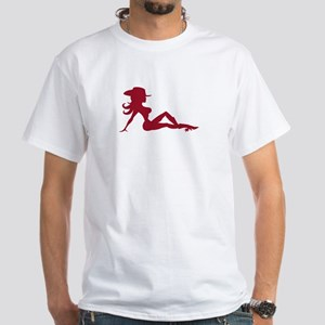 Mudflap Cowgirl White T-Shirt