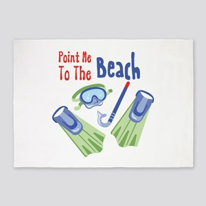 Point me to the Beach 5'x7'Area Rug