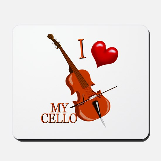 I Love My CELLO Mousepad