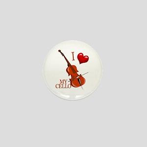 I Love My CELLO Mini Button