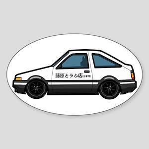 Cartoon Initial D Toyota AE86 Sticker