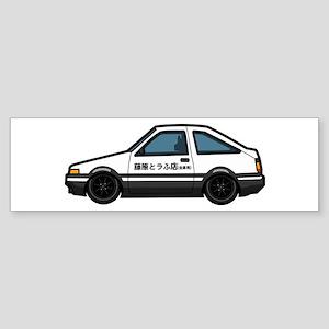 Cartoon Initial D Toyota AE86 Bumper Sticker