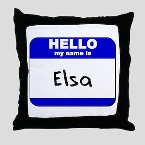 hello my name is elsa  Throw Pillow
