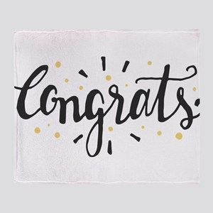 congrats Throw Blanket