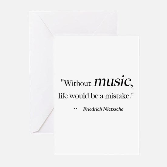 Without music, life is a mist Greeting Cards (Pack