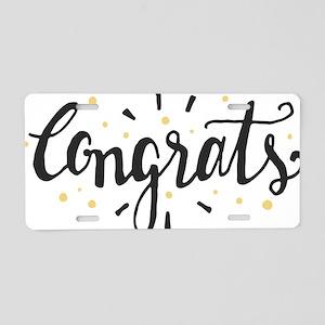 congrats Aluminum License Plate