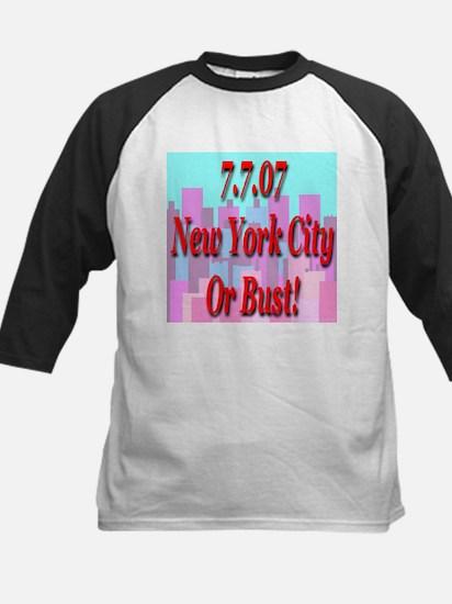 7.7.07 New York City Or Bust Kids Baseball Jersey
