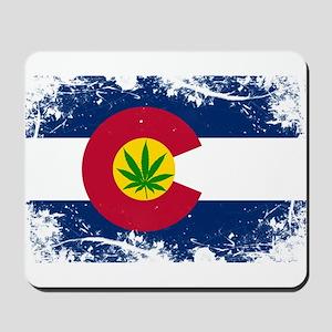 Colorado Marijuana Flag Mousepad
