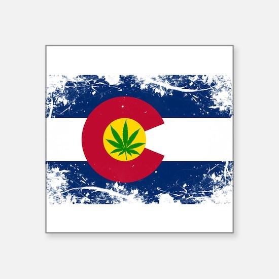 Colorado Marijuana Flag Sticker