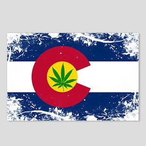 Colorado Marijuana Flag Postcards (Package of 8)