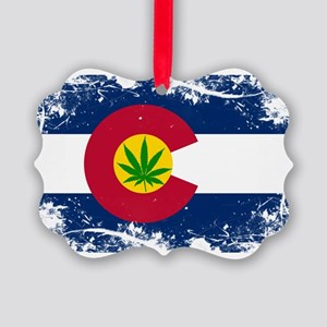 Colorado Marijuana Flag Ornament