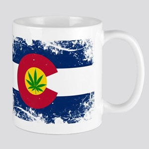 Colorado Marijuana Flag Mugs