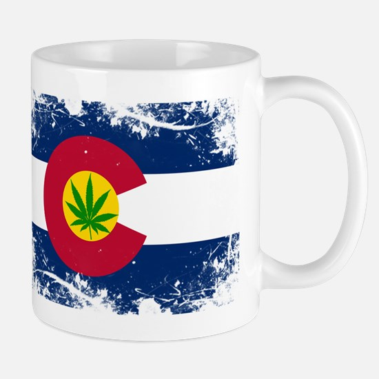 Colorado Marijuana Flag Mugs