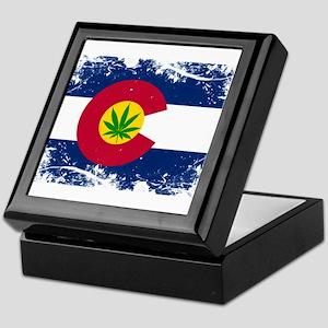 Colorado Marijuana Flag Keepsake Box