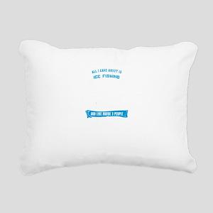 Ice Fishing Design Rectangular Canvas Pillow