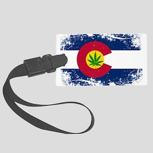 Colorado Marijuana Flag Luggage Tag