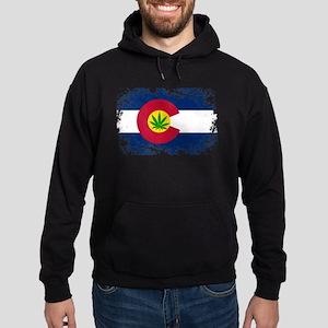 Colorado Marijuana Flag Hoodie