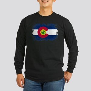 Colorado Marijuana Flag Long Sleeve T-Shirt