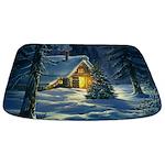 Christmas Snow Landscape Bathmat