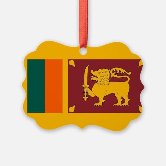 Sri Lanka Flag Ornament