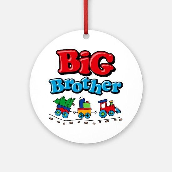 Choo Choo Big Brother Ornament (Round)