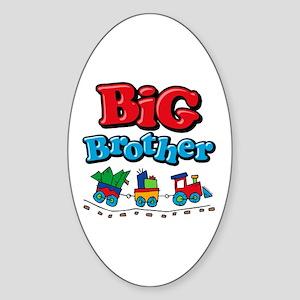 Choo Choo Big Brother Sticker (Oval)