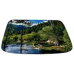 Mountain Forest Lake Bathmat