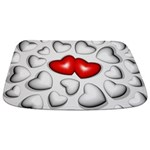 Red And White Hearts Bathmat