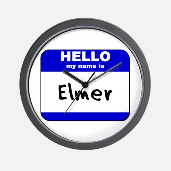 hello my name is elmer  Wall Clock
