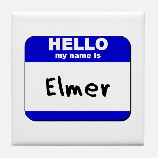 hello my name is elmer  Tile Coaster