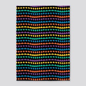 Colorful Abstract Dots 5'x7'Area Rug