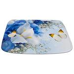 Flowers And Butterflies Bathmat