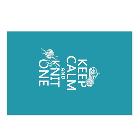 Keep Calm and Knit One Postcards (Package of 8)